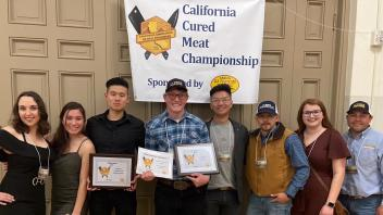 From Left to right Chyanne Hughes, Sethi Verner. Josh Cheng, Jared Hickory. Andy Leung, Mario Valdez, Grazia Machado and Coach/Advisor Caleb Sehnert