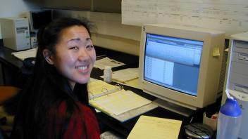 Marisa Wong at the computer