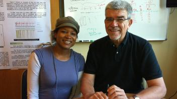 Rashida Lathan and professor Medrano, 2011