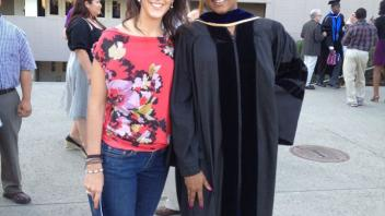 Rashida Lathan PhD graduation with Angela Canovas, June 2012