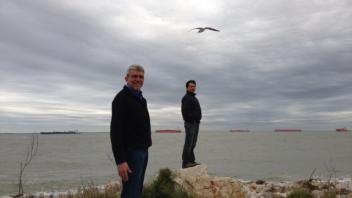 Juan Medrano, and Ricardo Verdugo in Galveston, Texas, 2013