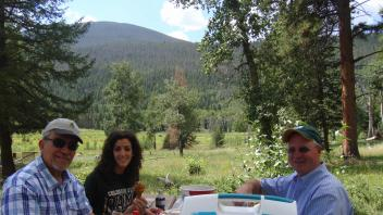 Juan Medrano, Angela Canovas and Milton Thomas in Rocky Mountain National Park, Colorado, August 2013