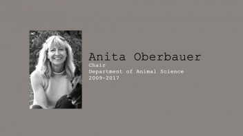 18. Anita Oberbauer, Chair of Department of Animal Science, 2009 - June 2017.