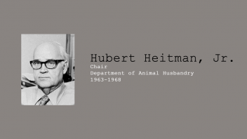 7. Hubert Heitman, Jr., Chair of Department of Animal Husbandary, 1963 – 1968.