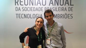 Dr. Denicol and Dr. Ross at the Brazilian Society for Embryo Technologies annual meeting