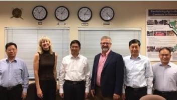 Dr. Oberbauer and Dr. Murray with visitors from Shandong Agricultural University