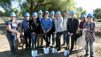 Groundbreaking at the Goat Facility