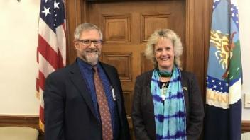 Dr. Murray and Dr. Van Eenennaam at the USDA Secretary's Office