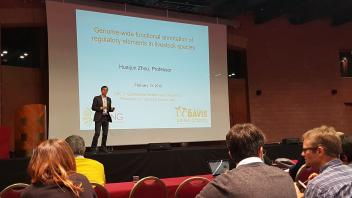 Dr. Zhou presenting in Italy