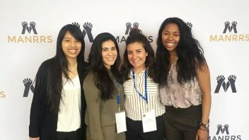 Shannon Chee, Guadalupe Péna, Juliana Candelaria and Carmen Banks at the 34th Annual MANRRS National Conference
