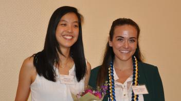 Ellen Lai and Carlyn Peterson with their awards