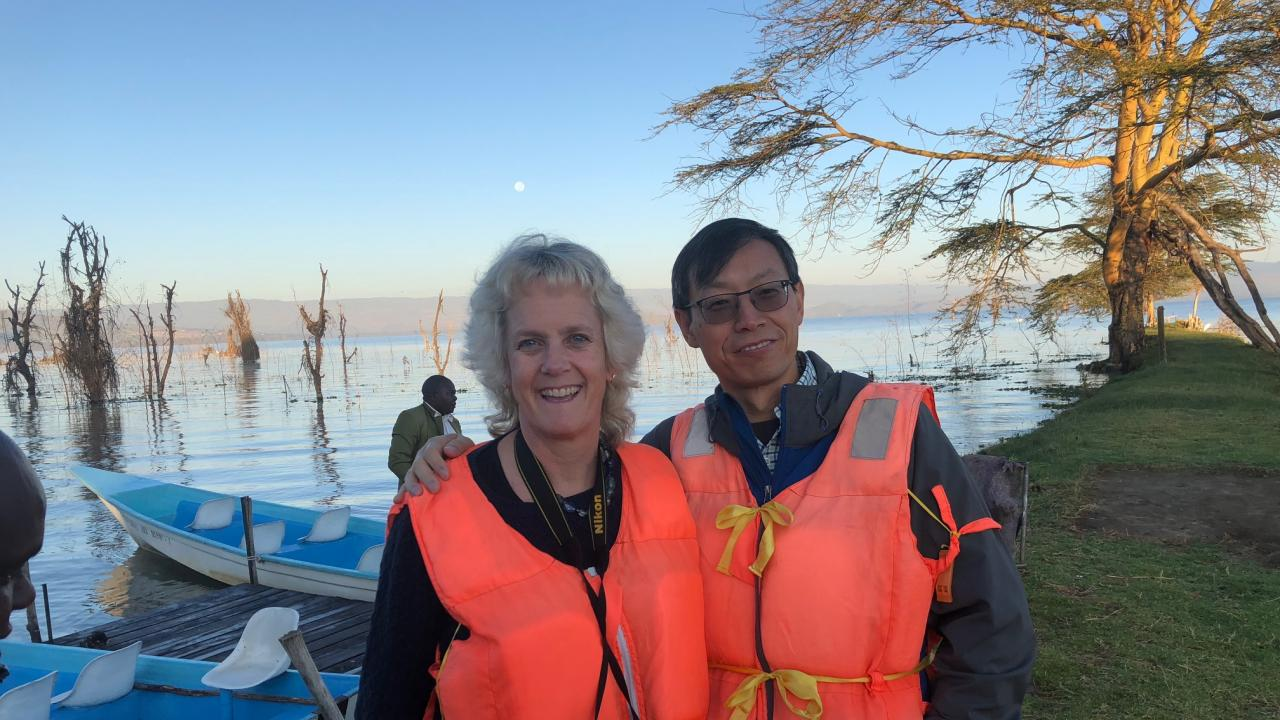 Dr. Van Eenennaam and Dr. Zhou in Kenya