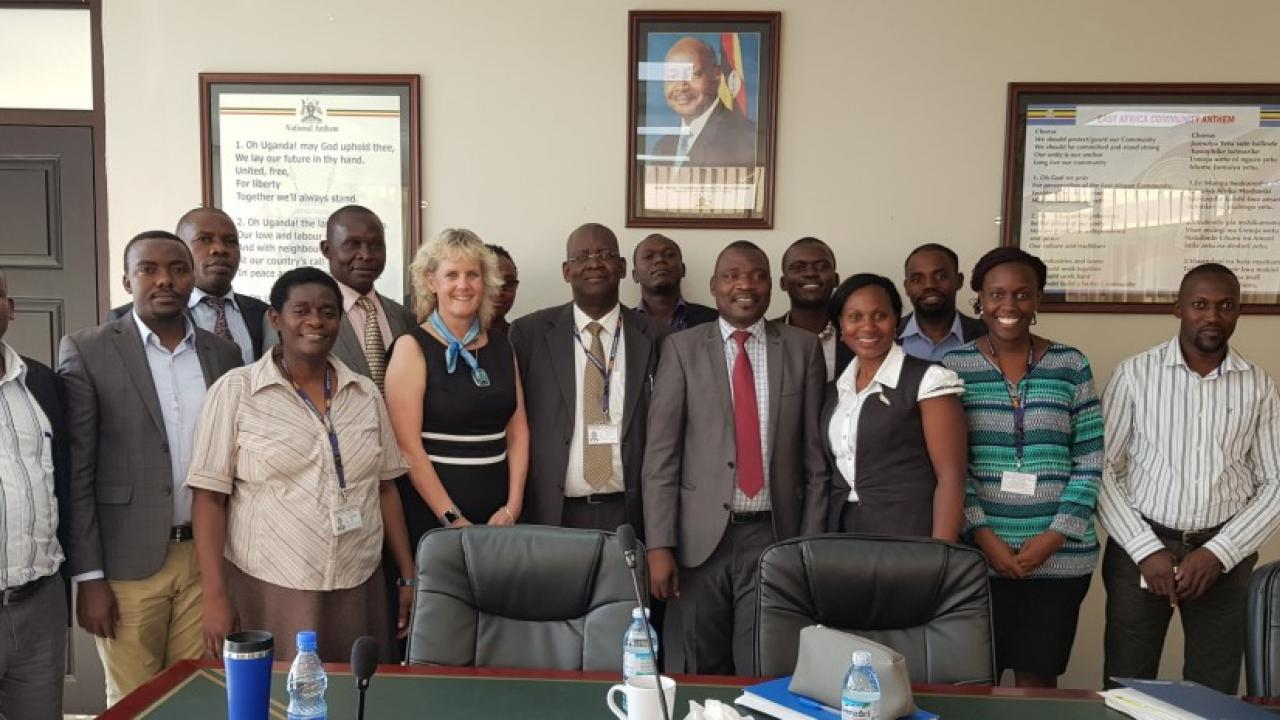 Dr. Alison Van Eenennaam with staff at the Ministry of Science, Technology and Innovation in Kampala